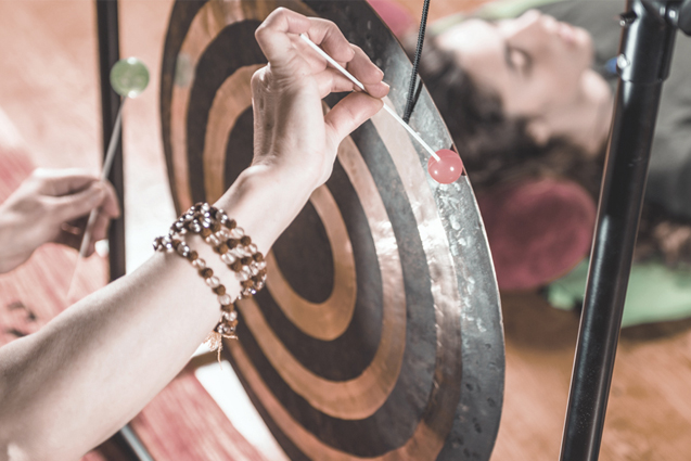 Gong meditation and mantra at The Core Zone